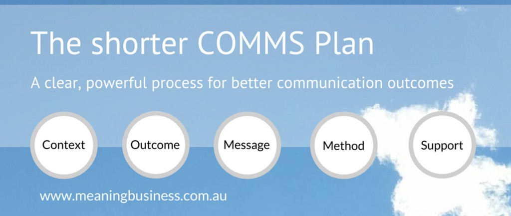 COMMS Plan workshops for NFP, NGO and Charity